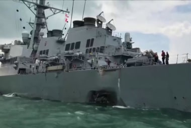 Sailors missing after Navy Destroyer...