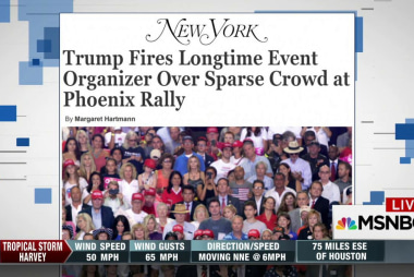 Trump fires organizer over crowd size