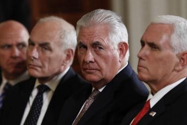 """Tillerson: """"President speaks for himself""""..."""