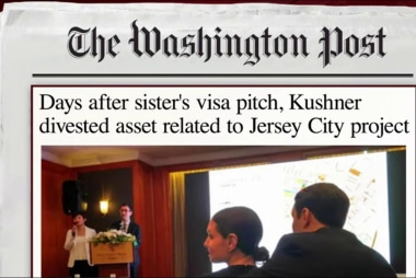 Kushner divestment claims comes under...