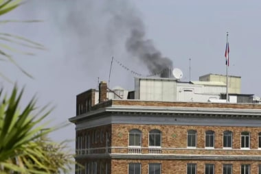 Why was a Russian consulate burning?