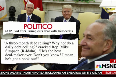 Trump weakens hand of GOP after budget deal