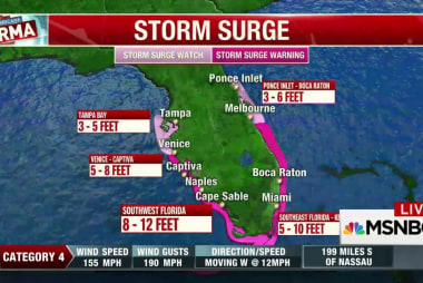 Florida west coast on edge as Irma shifts