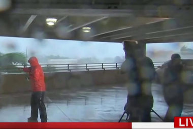 Anatomy of a Hurricane Reporting Scene on TV