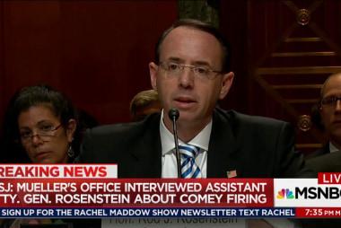 Rod Rosenstein interviewed on Comey firing
