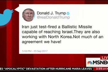 Trump tweets about missile test that didn...
