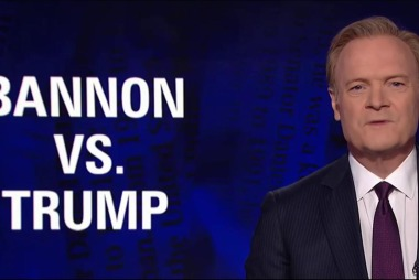 Lawrence: In Steve Bannon vs. Donald Trump...