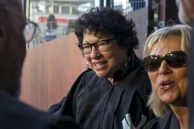 Justice Sotomayor wears her robe to Yankee...