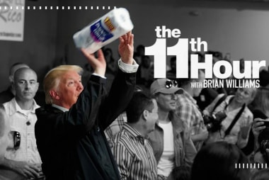 In Puerto Rico Trump talks up the weather ...