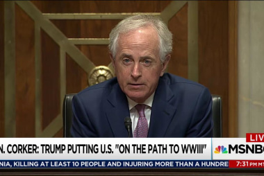 Corker interrupts Trump 'silent movie'