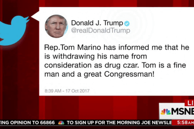 Trump says his drug czar pick withdrawing...
