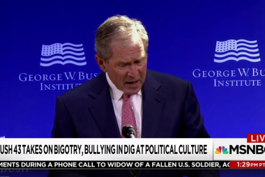 Bush knew his speech would be seen as anti...