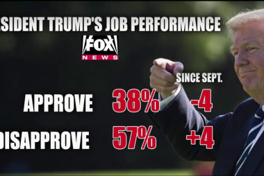 Trump's approval rating hits new low in poll