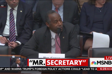 Ben Carson refuses to answer questions on...