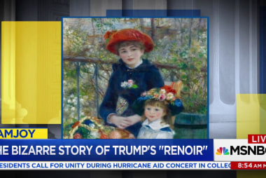 Trump insisted his Renoir is real, even...