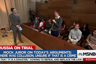 A mock jury wrestled with the arguments on...