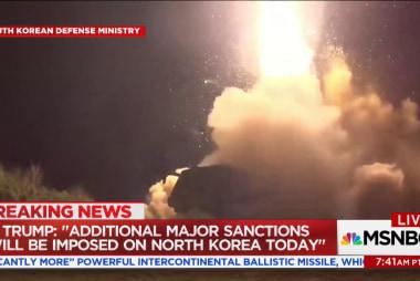 Trump announces new North Korea sanctions...