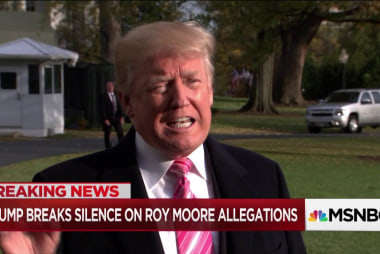 Trump defends Roy Moore