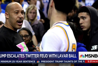 Trump continues to lash out at Lavar Ball