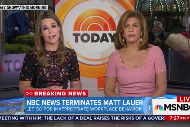 Matt Lauer fired over sexual allegations
