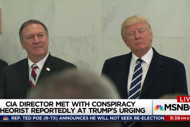 Trump sends Pompeo to meet conspiracy...