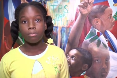 Child urges Trump to extend TPS for Haiti...