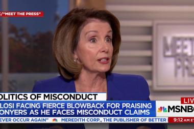 Did Pelosi abandon harassment victims?