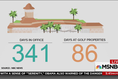 """Trump golfs for 2 days after saying it's """"back to work"""""""