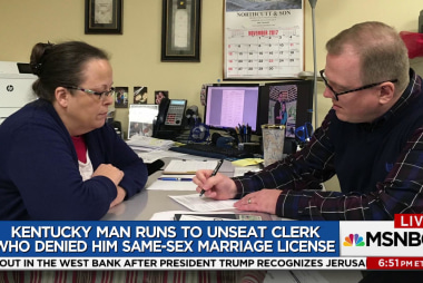 Man denied same-sex marriage license runs...