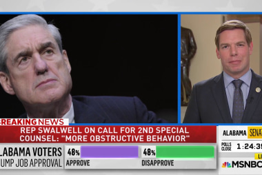 """Rep. Swalwell: Bob Mueller """"is braver on his weakest day"""" than Trump on his best"""