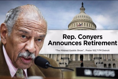Rep. Conyers announces retirement,...
