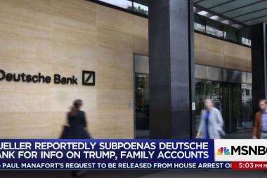 Mueller subpoenas Trump Deutsche Bank records