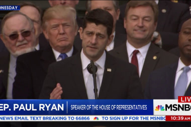 GOP leaders shower Trump with praise over tax plan
