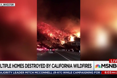 California ripped by wind-driven wildfires