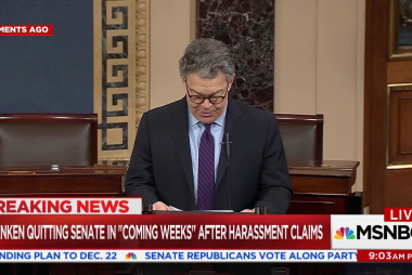 Al Franken resigns, hints at sexual...