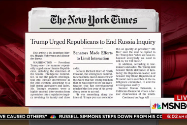 Trump urged Senate GOP to end probe: NYT