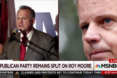 A divide in GOP remains over Roy Moore