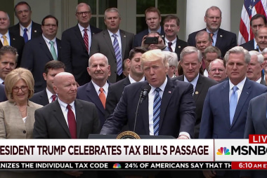 Trump lies about tax bill during victory lap