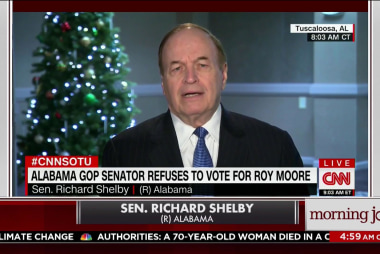 Alabama GOP senator can't vote for Moore