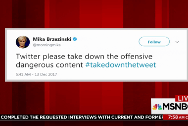 Mika asks for help to #takedownthetweet