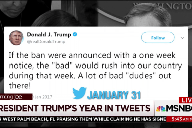 32 tweets that encapsulate Trump's first year