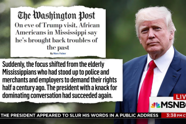 The irony of Trump's controversial visit to a Civil Rights Museum