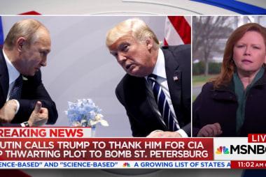 Putin Calls Trump to Thank Him For CIA Tip Thwarting Bomb Plot