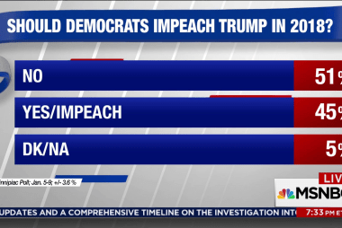 45% of Americans support impeachment