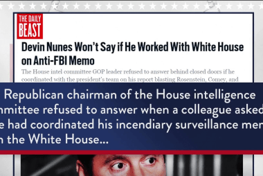 Daily Beast: Nunes refused to say if he coordinated with White House