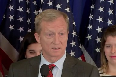 Tom Steyer's big announcement on 2018