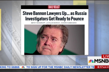 Steve Bannon: on the offensive against Trump camp?