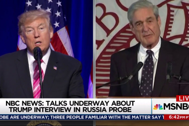 Possible Mueller Trump interview takes shape
