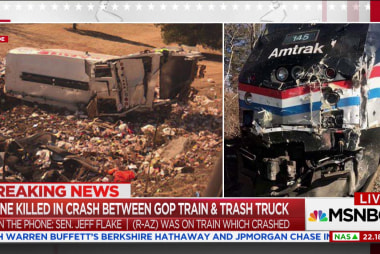 Sen. Flake describes moments after GOP train collides with trash truck