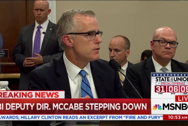 Rep. Swalwell warns Trump admin over McCabe departure